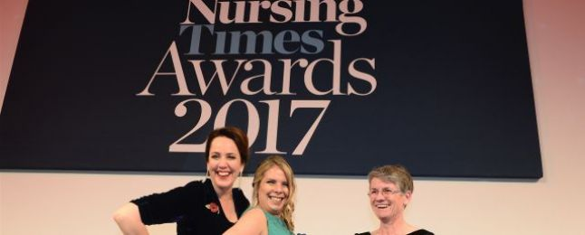Photo fo Katrine Sealey, Nursing Times Awards 2017