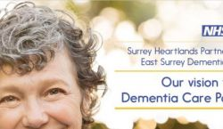 Poster for Surrey Heartland Partnership, Our vision for the Dementia Care Pathway